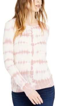 INC International Concepts Inc Petite Cotton Tie-Dye Sweater, Created for Macy's