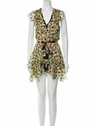 le superbe Silk Knee-Length Dress Green