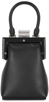 Perrin Paris Le Miniaudiere black leather top handle bag