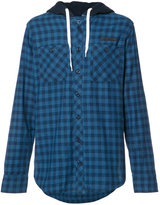 PRPS checked buttoned hoodie