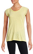 Style And Co. Petite Woven Cap Sleeve T-Shirt