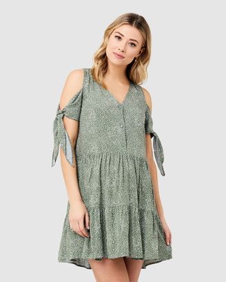 Ripe Maternity Women's Printed Dresses - Lottie Tie Sleeve Dress - Size One Size, XS at The Iconic