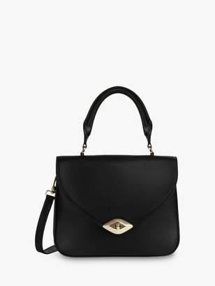 Furla Eye Leather Grab Bag, Nero