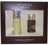 Carolina Herrera for Men Edt Spray 3.3-Ounce and Deodorant Stick 2.5-Ounce