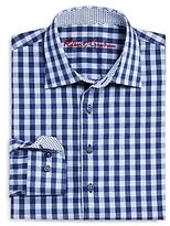 Robert Graham Boys' Kade Windowpane Dress Shirt - Big Kid