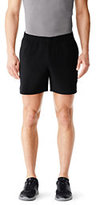 Lands' End Men's Speed Flyweight Shorts-Charcoal Heather Print
