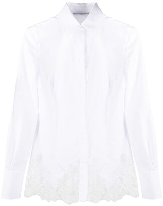 Ermanno Scervino Lace Embroidered Panel Longsleeved Shirt