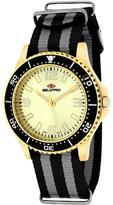 Seapro SP5419NBK Women's Tideway Black & Gray Nylon Watch