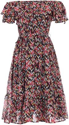 Wallis **Jolie Moi Pink Ruffle Front Bardot Dress