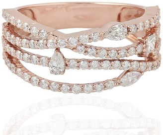 Artisan 18Kt Rose Gold Pave Diamond Ring