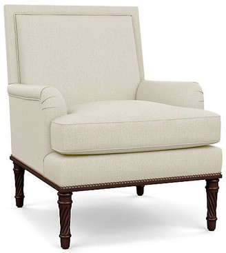 Bunny Williams Home Azure Accent Chair - Natural Diamond Linen