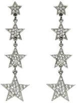 Ben-Amun Rock Star Crystal Stacking Stars Drop Post Earrings