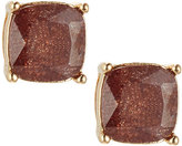 Lydell NYC Cushion-Cut CZ Speckle Stud Earrings, Brown