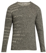John Varvatos Crew-neck Abstract Sweater