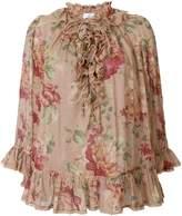 Zimmermann floral ruffle blouse
