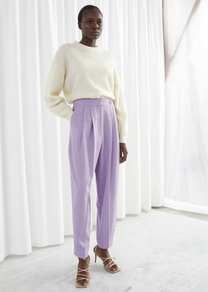 And other stories Tailored Wool Blend Pleat Trousers