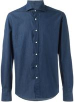 Fay spread collar denim shirt