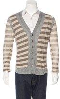 Yigal Azrouel Striped Linen Cardigan