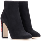 Dolce & Gabbana Embellished Suede Ankle Boots