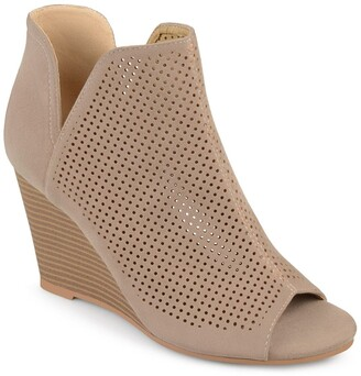 Journee Collection Andies Perforated Wedge Sandal