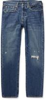 Levi's 501 Slim-Fit Distressed Denim Jeans
