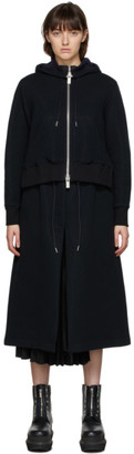 Sacai Black Sponge Hoodie Dress