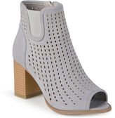 Journee Collection Emm Peep Toe Ankle Booties