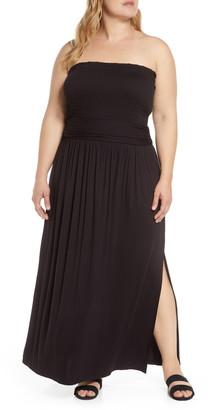 BP Strapless Smocked Maxi Dress