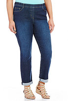 Allison Daley Plus Pull-On Cuffed Skinny Jeans