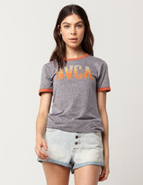 RVCA Track Womens Ringer Tee