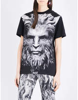 Christopher Kane Beauty and the Beast cotton and silk-blend T-shirt