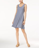 Style&Co. Style & Co. Chevron Striped A-Line Dress, Only at Macy's