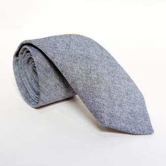 Blade + Blue Solid Grey Chambray Tie