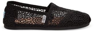 Toms Black Moroccan Crochet Women's Classics