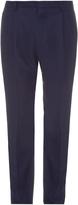 Lanvin Pleated wool-blend trousers