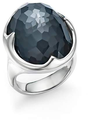 Ippolita Sterling Silver Rock Candy® Clear Quartz and Hematite Doublet Prince Ring
