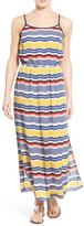 Vince Camuto Jagged Stripe Maxi Dress (Petite)