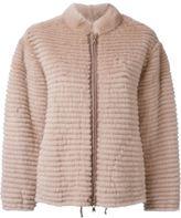 Liska - cashmere zip front jacket - women - Mink Fur/Cashmere - S