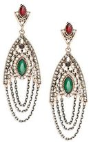 Cara Chain-Accented Chandelier Earrings
