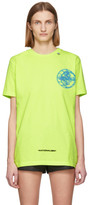 Off-White Off White Yellow Glow-In-The-Dark 3D Cross T-Shirt
