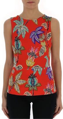 Etro Floral Print Sleeveless Blouse