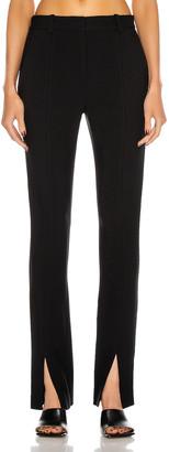 Victoria Beckham Front Split Skinny Trouser in Black | FWRD