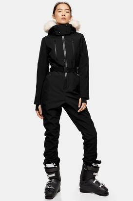 Topshop Black Hooded Ski Snow Suit by SNO
