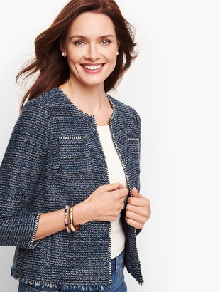 Talbots Airy Tweed Woven Jacket
