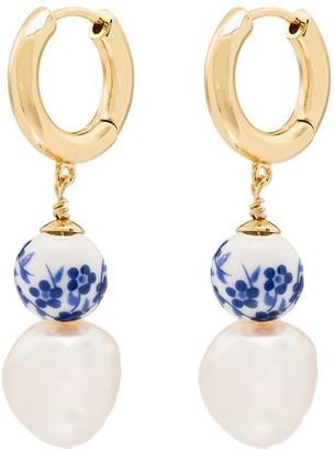 Anni Lu Heloise floral hoop earrings