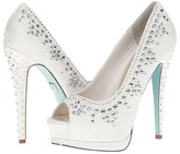 Betsey Johnson Vow (White Fabric) - Footwear
