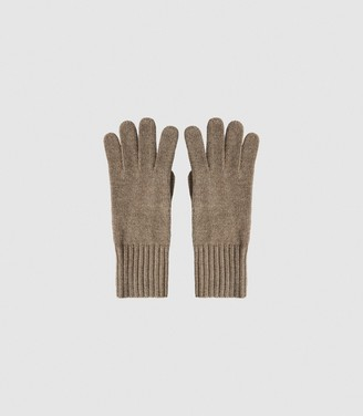 Reiss GEORGIA CASHMERE GLOVES Camel