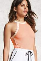 Forever 21 Textured High-Neck Tank Top
