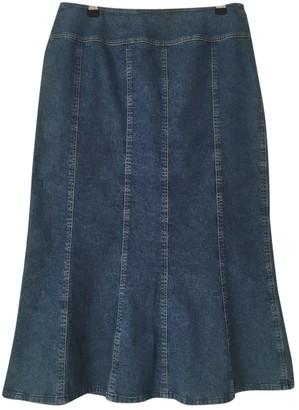 Basler Blue Cotton - elasthane Skirt for Women