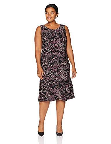 Danny & Nicole Women\'s Plus Size 2 Pieces Ruffle v-Neck Jacket Dress